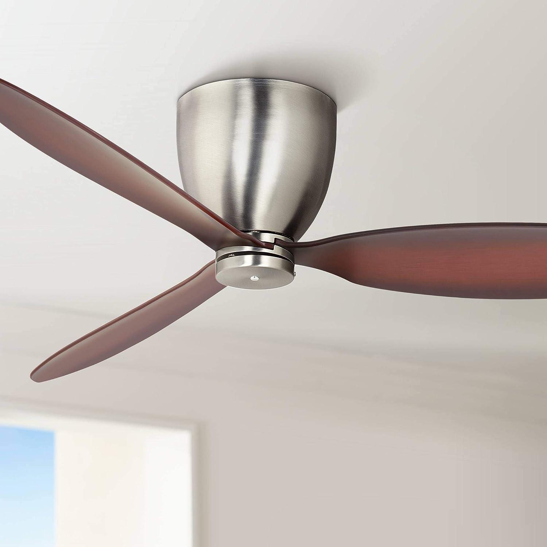 """52"""" Casa Orbitor Brushed Nickel Hugger Ceiling Fan"""