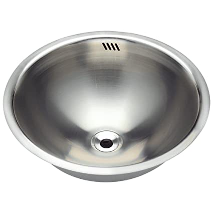 Merveilleux 420 18 Gauge Dual Mount Stainless Steel Bathroom Sink   Vessel Sinks    Amazon.com