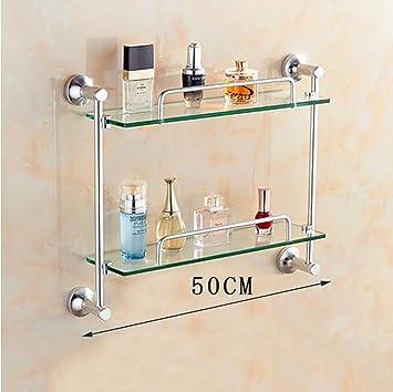 Badezimmer Regal Badezimmer Glas Regal, Raum Aluminium Glas Regal ...
