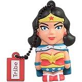 Tribe DC Comics Action Figure Wonder Woman Chiavetta USB da 16 GB Pendrive Memoria USB Flash Drive 2.0 Memory Stick, Idee Regalo Originali, Figurine 3D, Archiviazione Dati USB Gadget in PVC con Portachiavi - Multicolore