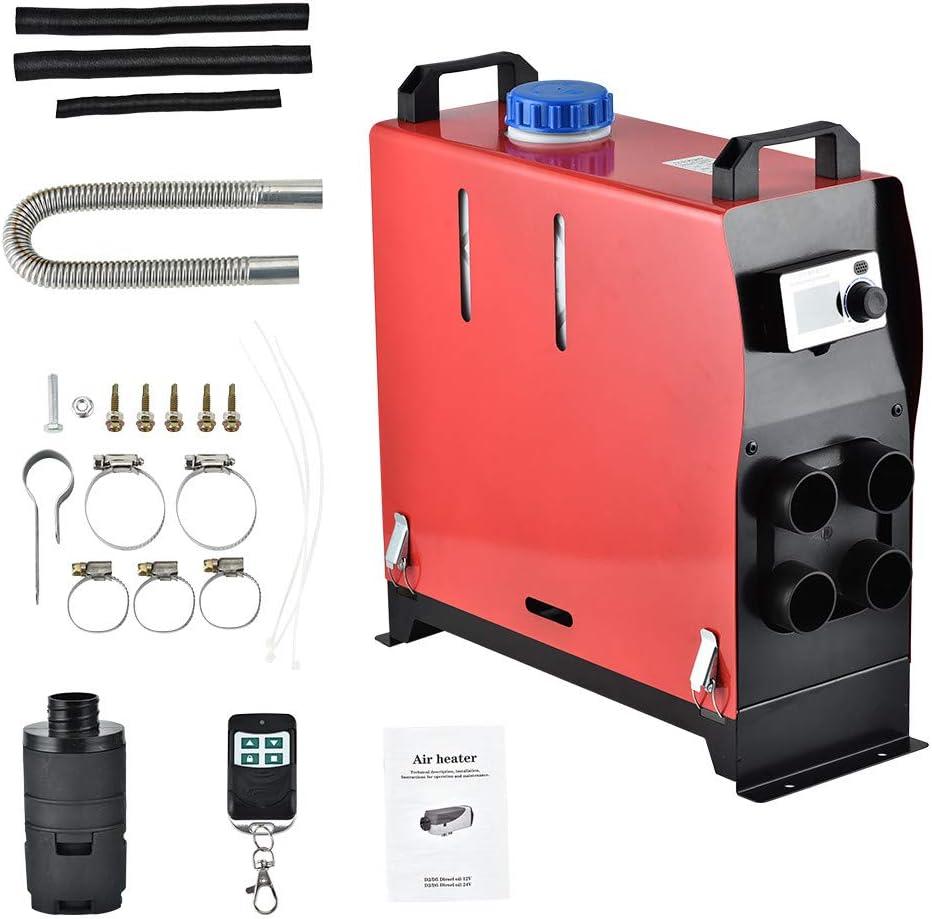 Kacsoo Calentador de estacionamiento de aire forzado con calentador de aire diesel con control remoto 4 orificios 5KW 12V todo en 1 Máquina integrada ...