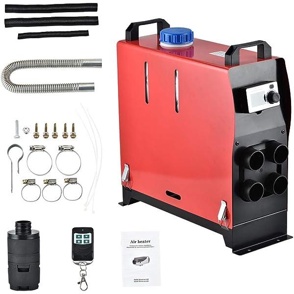 Parking heater,Diesel air heater for Steam Boat Bus LCD Latest Key Switch Silencer Diesel heater 12V 5kw ETE ETMATE Car heater