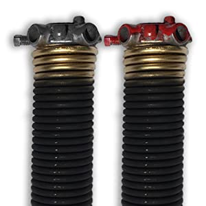 "DURA-LIFT .250 x 2"" x 33"" Torsion Garage Springs (Gold, Left & Right Wound)"