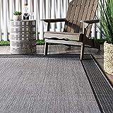 nuLOOM Gris Border Outdoor Area Rug, 2' x 3', Grey