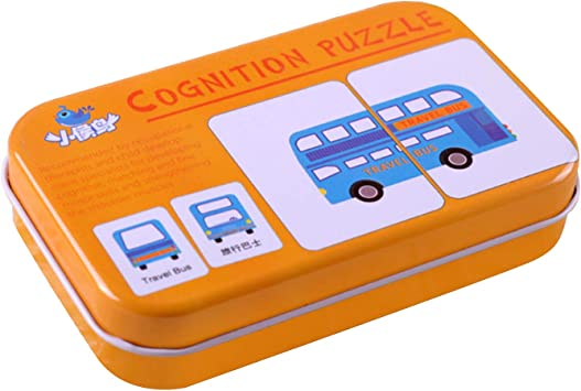 Beetest 32pcs Baby Flash Cards Cognition Puzzle Forma