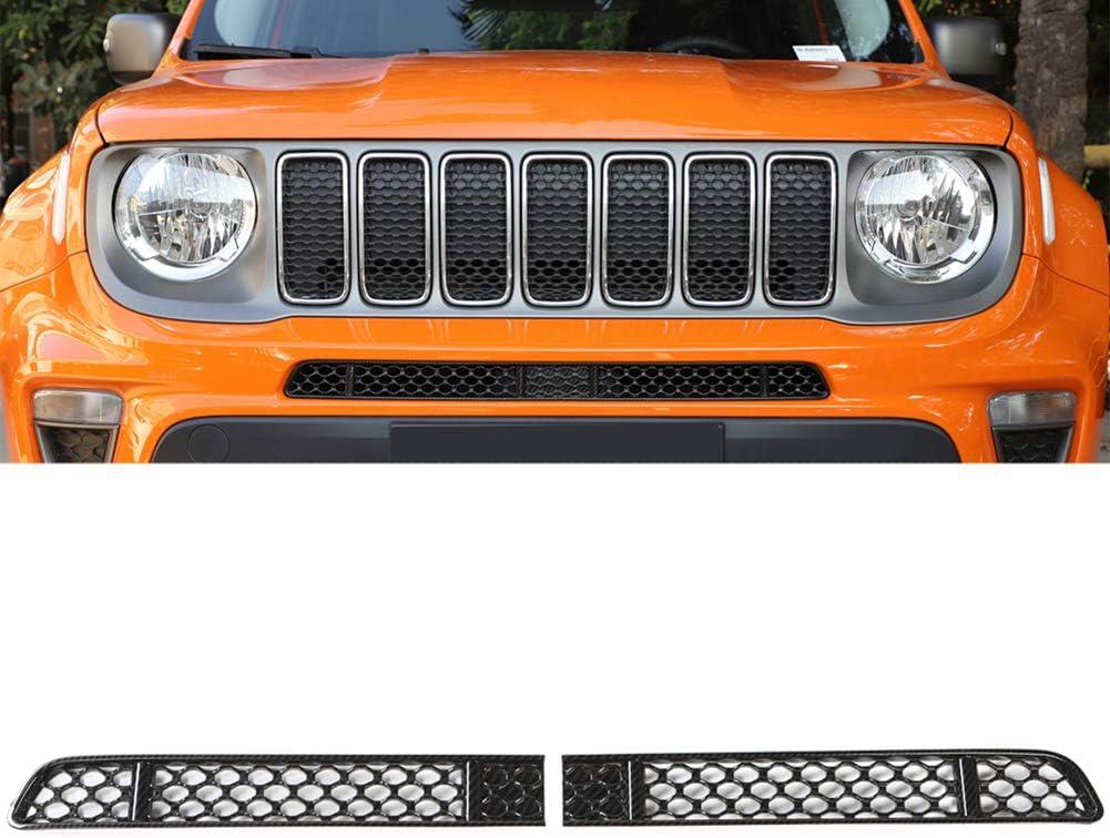 AniFM 2PCS ABS Auto Front Insektengitter Gitter Dekoration Abdeckung f/ür Jeep Renegade 2019 Auto Interieur Zubeh/ör