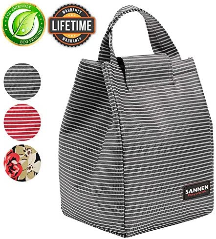 Insulated Lunch Cooler Reusable Stripes product image