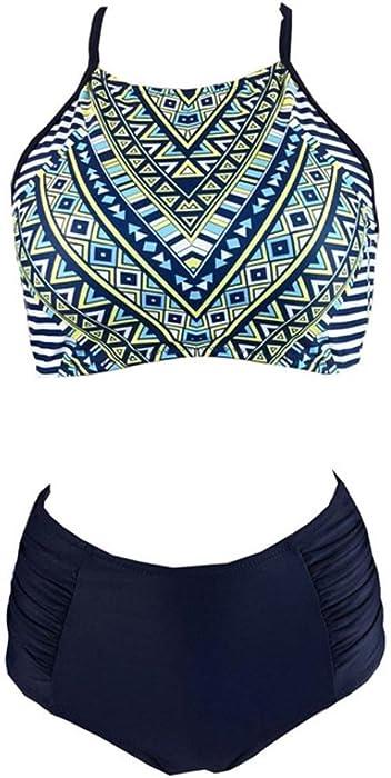 f4aa2da55b ... Sumen Teen Girls High Waist Swimsuit Summer Two Piece Bathing Suit  Skinny Bikini Sets (S ...