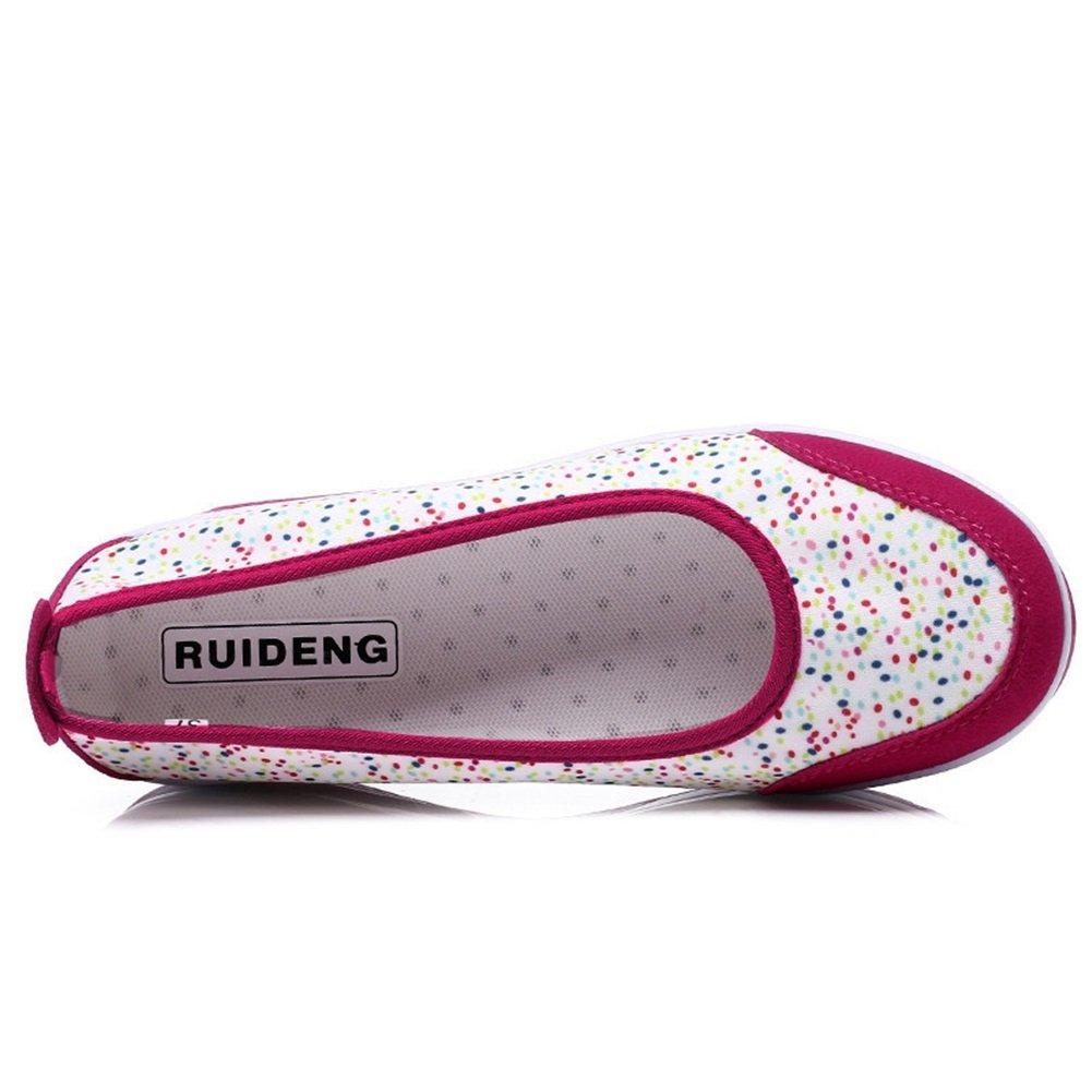 Exing Femmes Chaussures Printemps /Ét/é Nouvelle Shallow Mouth Soft Bottom Fitness Shake Chaussures Hauteur Augmenter