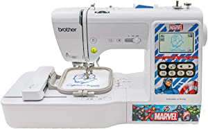 Brother Sewing and Embroidery Machine, 4 Marvel Faceplates, 10 Downloadable Marvel Designs, 80 Designs, 103 Built-In Stitches, 4