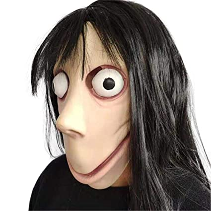 Amazon.com: Fancystar Scary MoMo Costume Mask Death Game ...