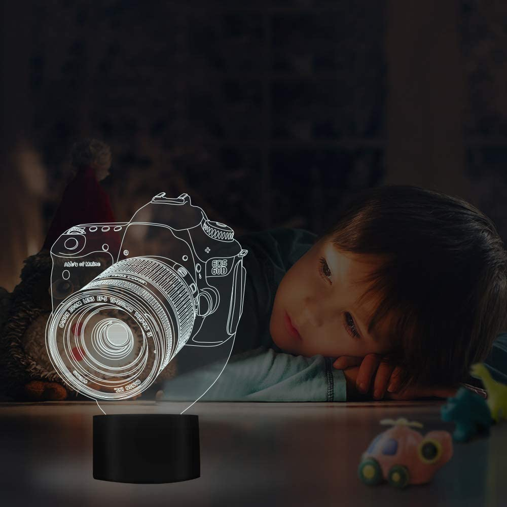 FULLOSUN Sport Racing Illusion Night Light 16 Colors Changing with Remote Control Baby Bedroom D/écor Creative Birthday Gifts for Boys Men Car 3D Bedside Lamp for Kids