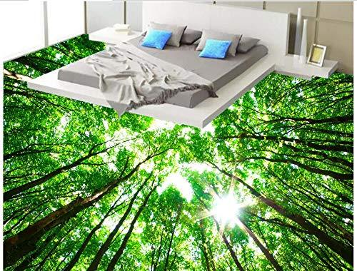 Cheap  BZDHWWH Highland Woods 3D Flooring Waterproof Wallpaper for Bathroom Living Room 3D..