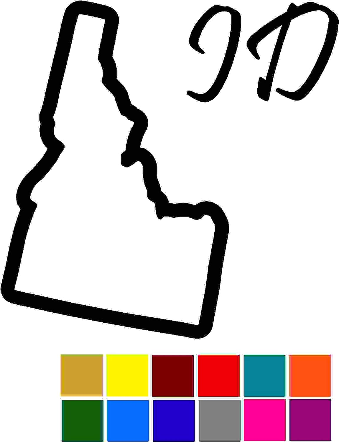 States Idaho Decal Choose Color V and T Gifts