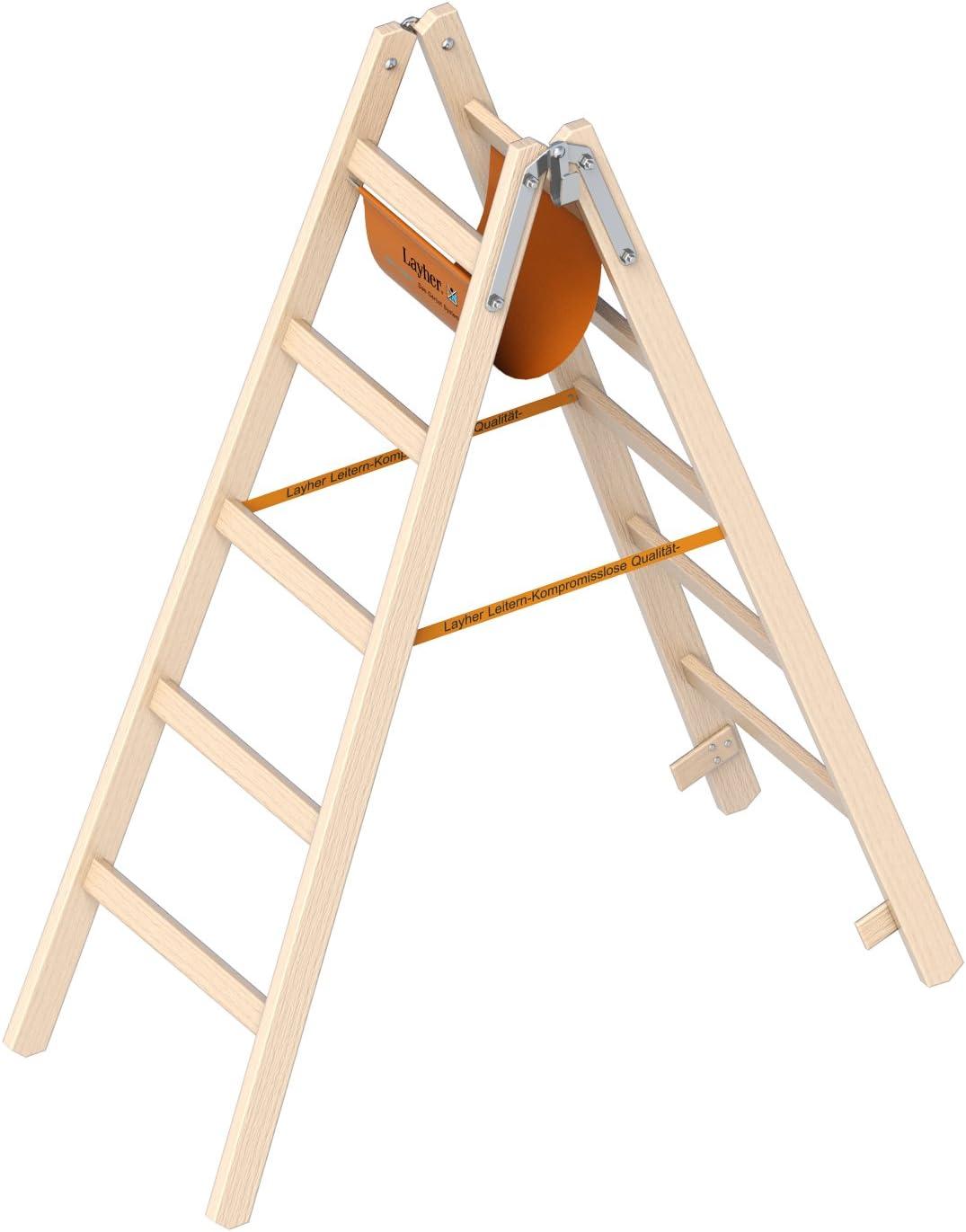 Layher 1038205 1038 EUROSTYL – Escalera, marrón, 2 x 5 travesaños: Amazon.es: Bricolaje y herramientas