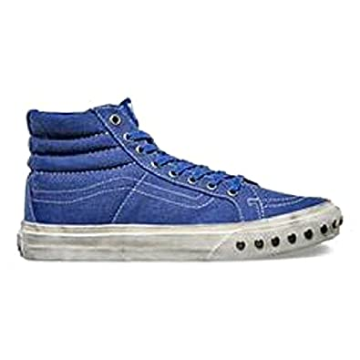 2505371687 Image Unavailable. Image not available for. Color  Vans Sk8 Hi Slim Womens  Size 7.5 Overwashed Deep Ultramarine Blue Fashion Skateboarding Shoes
