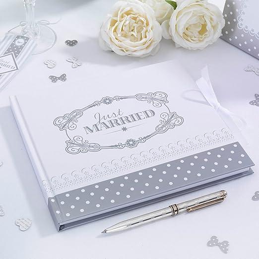 2 opinioni per Guestbook bianco con scritta JUST MARRIED