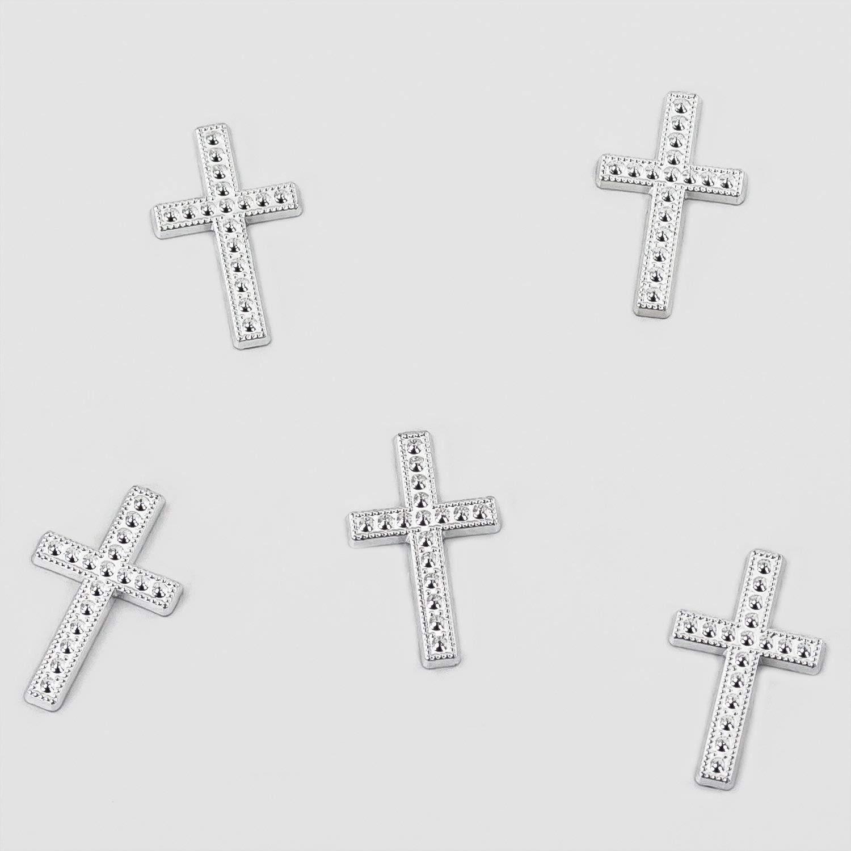 Oblique-Unique/® 25/croix Liti/ère Table d/écorative D/écoration pour confirmation Bapt/ême Communion