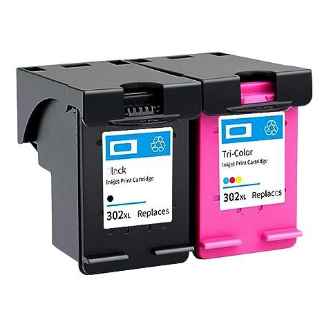 Siebwinn - Cartuchos de tinta para impresora HP 302 (1 ...