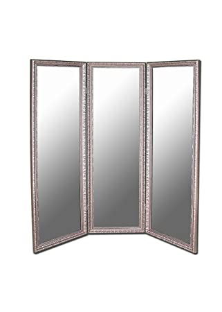 3panel folding room divider mirror 69 x 73 inches