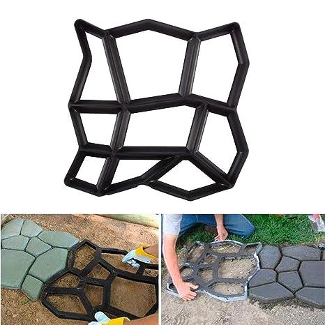 Molde para Cemento Molde para Hacer Pavimentos para Jardín Cemento, Negro, 43 × 43