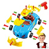 Take Apart Toy Racing Car, 30 Pieces Build A Car Kit with Electric Drill Tool and Real Sounds and Lights, Free Storage Bag, Batteries and Extra Parts, Best for Children 3 and Up