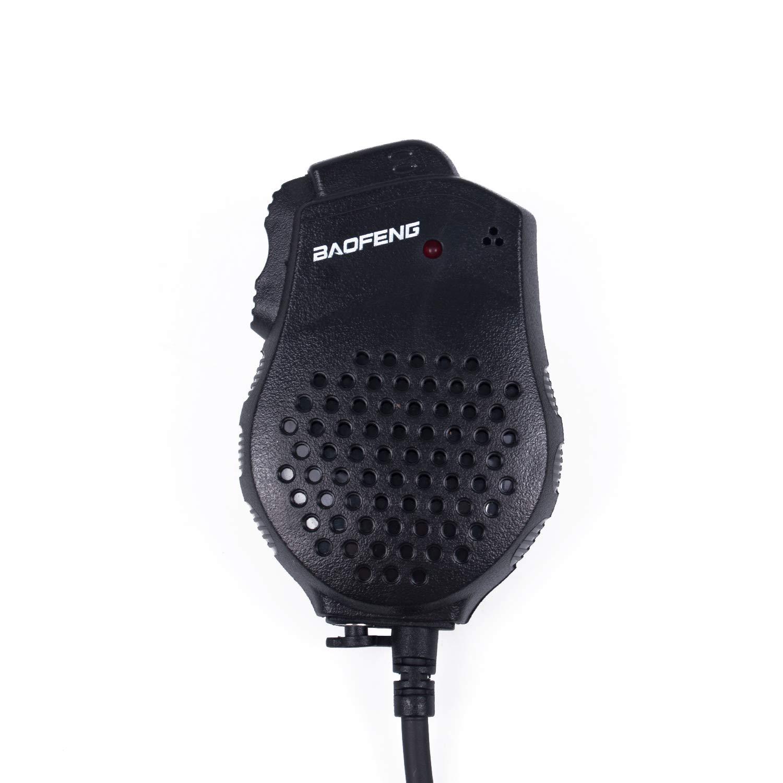 Mengshen Baofeng Micr/ófono Dual PTT Microphone Speaker Mic for Portable Radio UV-82 UV-82L UV-8D UV-89 UV-82HX UV-82HP GT-5TP UV-82/_M