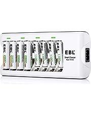 EBL 808 Cargador de pilas con 4 Unidades de AA 2800mAh y 4 unidades AAA 1100mAh