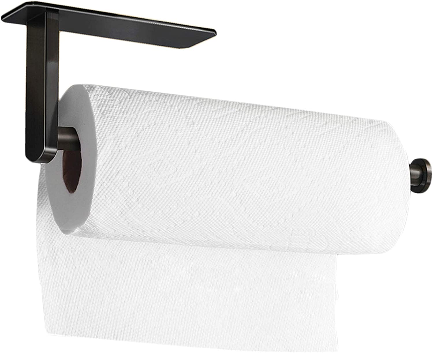 Amazon Com Tofiigrem Self Adhesive Paper Towel Holder Under Cabinet Mount Stick On Wall Black Paper Towel Rack For Large Kitchen Roll Paper Stainless Steel Kitchen Dining