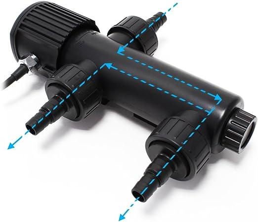 SunSun CUV-209 clarificador Agua estanques Filtro luz UV lámpara UVC 9W aclarador Bomba jardín