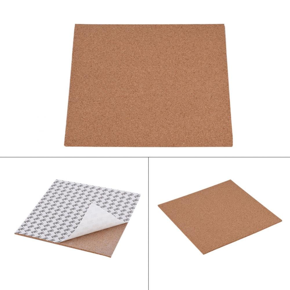 fosa 300 x 300 x 3mm Cork Sheets Heated Bed Hot Plate 3mm Cork Sheet with Adhesive Tape for 3D Printer fo sa