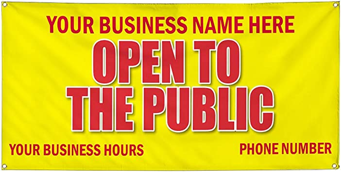 Vinyl Banner Multiple Sizes Preschool Promotion Business Education Outdoor Weatherproof Industrial Yard Signs Yellow 10 Grommets 60x144Inches