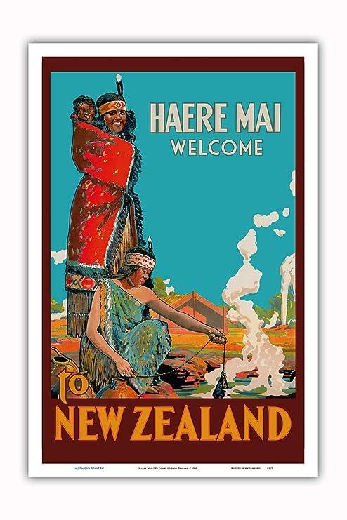 Pacifica Island Art Haere MAI (Bienvenido) a Nueva Zelanda ...