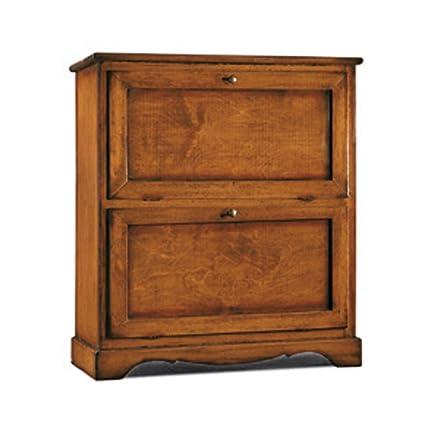InHouse srls Scarpiera 2 ante, arte povera, in legno massello e mdf ...