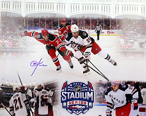 New York Rangers Chris Kreider Autographed 16x20 Photograph From The 2014 Stadium Series in Yankee Stadium
