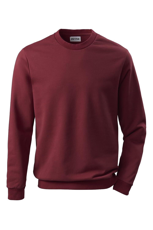 Phyne Herren Rundhals Sweatshirt - Original hochwertigem Sweat Stoff, made in Portugal - In den Farben navy blau und bordeaux rot