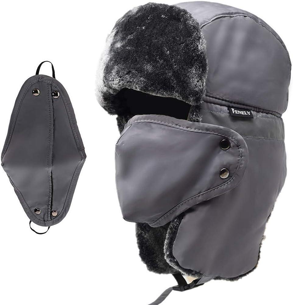 Gauze MaskTrapper Ushanka Hat Windproof Warm for Outdoor Skiing Sport Winter Hat for Men and Women