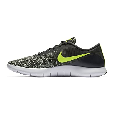 NIKE Mens Flex Contact Running Shoe Anthracite/Volt