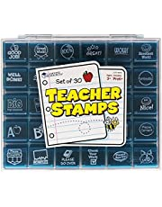 Learning Resources Jumbo Illustrated Teacher Stamps, Encouraging Messages Stamps For Homework School Classroom, Set of 30