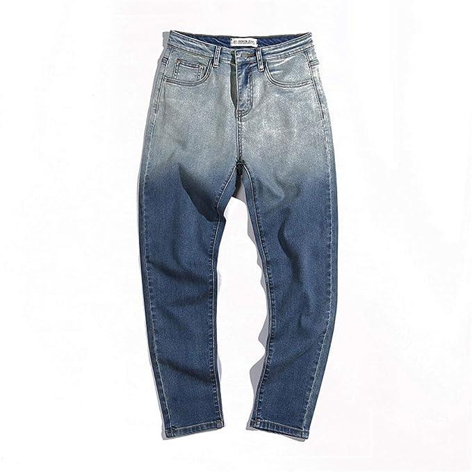 Weentop Pantalones Vaqueros de Moda con múltiples Bolsillos ...