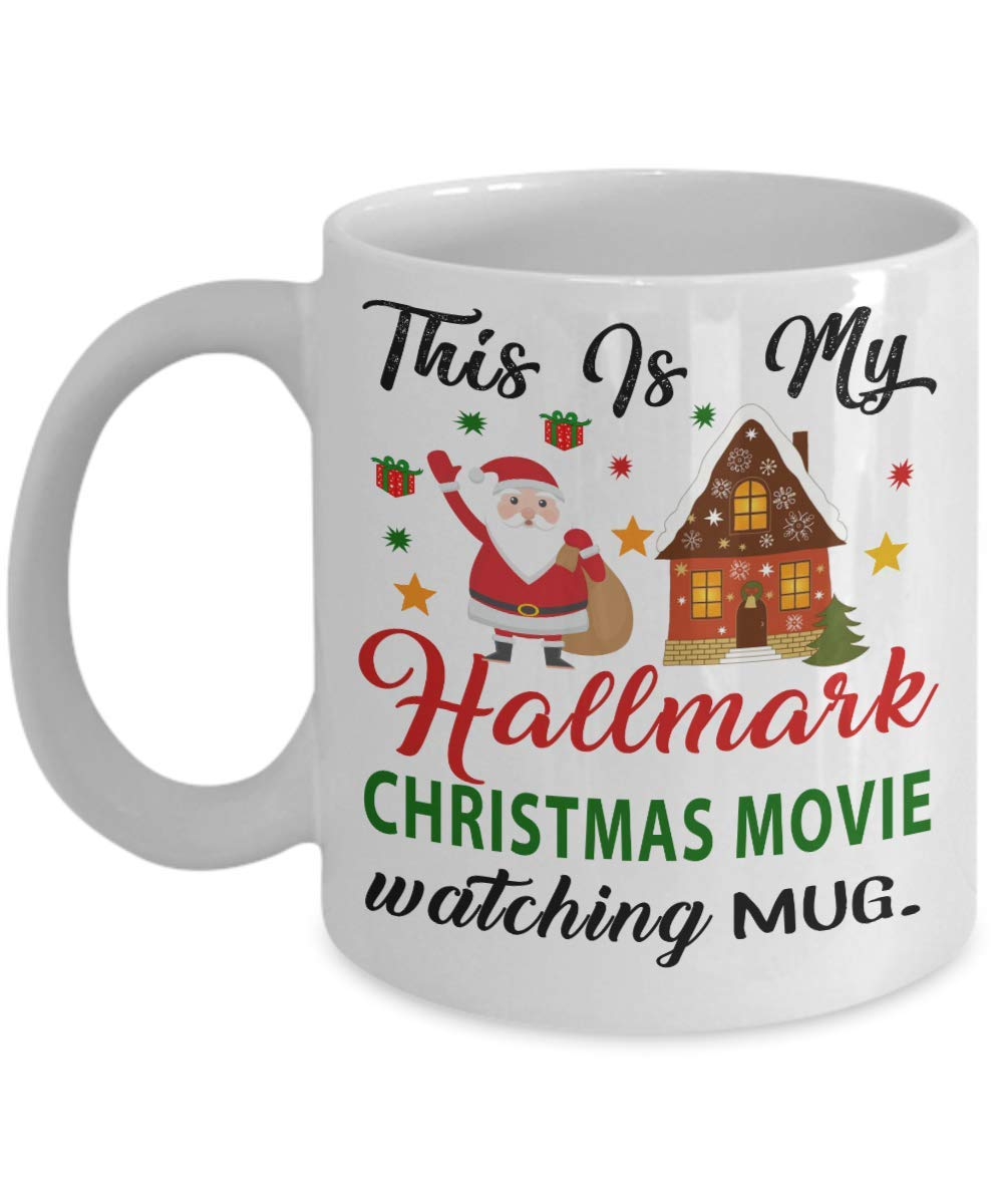 87e7416047b Hallmark Christmas Movie Watching Coffee Mug - Dirty Santa Gift, office,  Coworker Tea Cup Funny Gift For Mother, Father Noel, Thank you, Mother's  day, ...