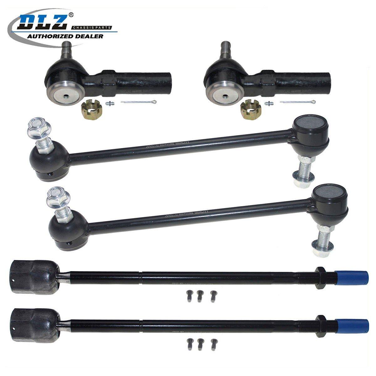 DLZ 6 Pcs Front Suspension Kit-2 Inner 2 Outer Tie Rod End 2 Sway Bar Link Compatible with 1995 1996 1997 1998 1999 2000 2001 2002 2003 Ford Windstar EV315 ES3181RL K8702 Partsgoing