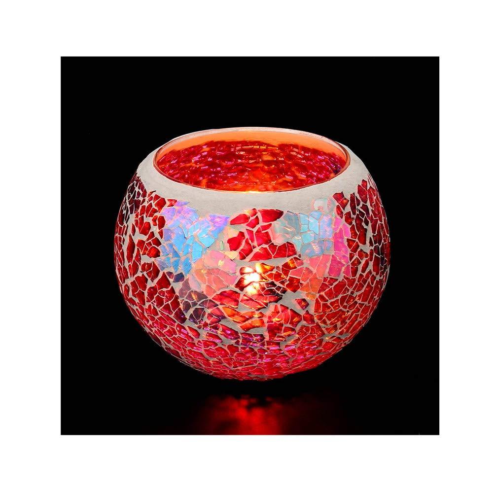 Kimanli Handmade Mosaic Glass Candlestick Wedding Wedding Ornaments That Props Gifts