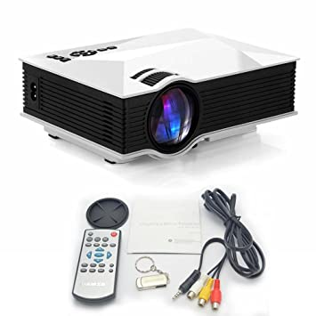ubmsa Portable Wifi proyector, Flash Wolf Mini Projector con 1200 ...
