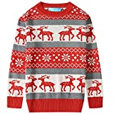 Product review for SSLR Big Boys' Reindeer Pullover Crewneck Ugly Christmas Sweater