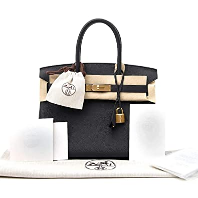84ade2c8be9 Image Unavailable. Image not available for. Color: New Black Hermes Birkin  Bag 30cm Togo Women's Handbag