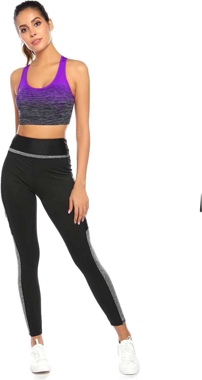 Sykooria Donna Reggiseno Sportivo Reggiseno da Allenamento Senza Ferretto Top Fitness Donna Palestra Imbottito per Ginnastica Yoga