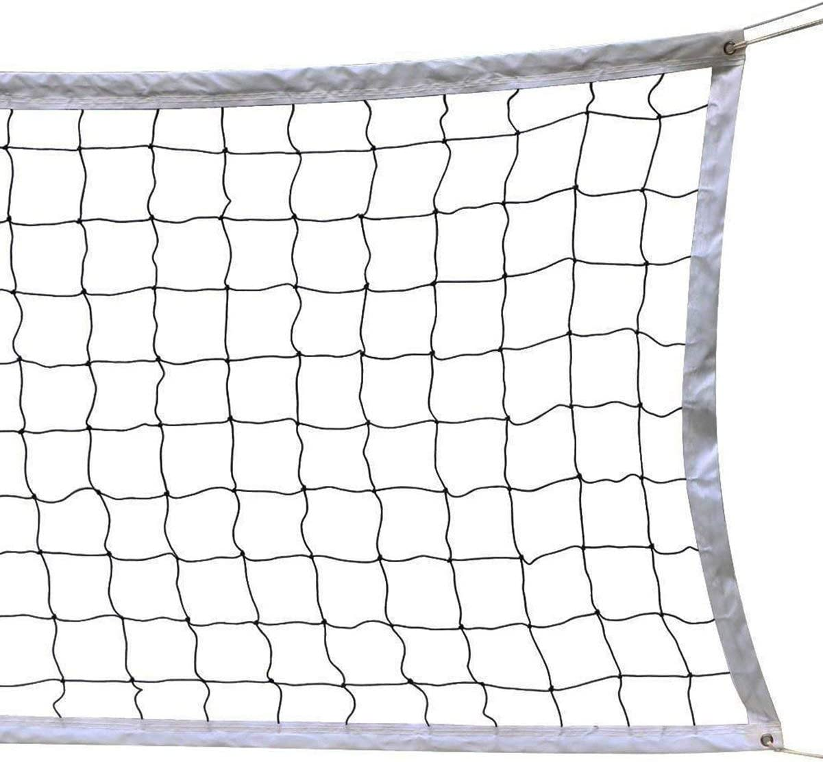 Amazon Com Holiberty Portable Volleyball Net 9 5m X 1m Pool Beach Volleyball Net Official Standard Size Indoor Outdoor Sports Backyard Schoolyard Training Equipment Net With Steel Cable Rope Without Frame Sports