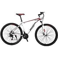 YUANP Bicicleta De Montaña para Hombre De 21 Velocidades Freno De Disco Doble 29 Pulgadas Bicicletas Urbanas Todo Terreno…