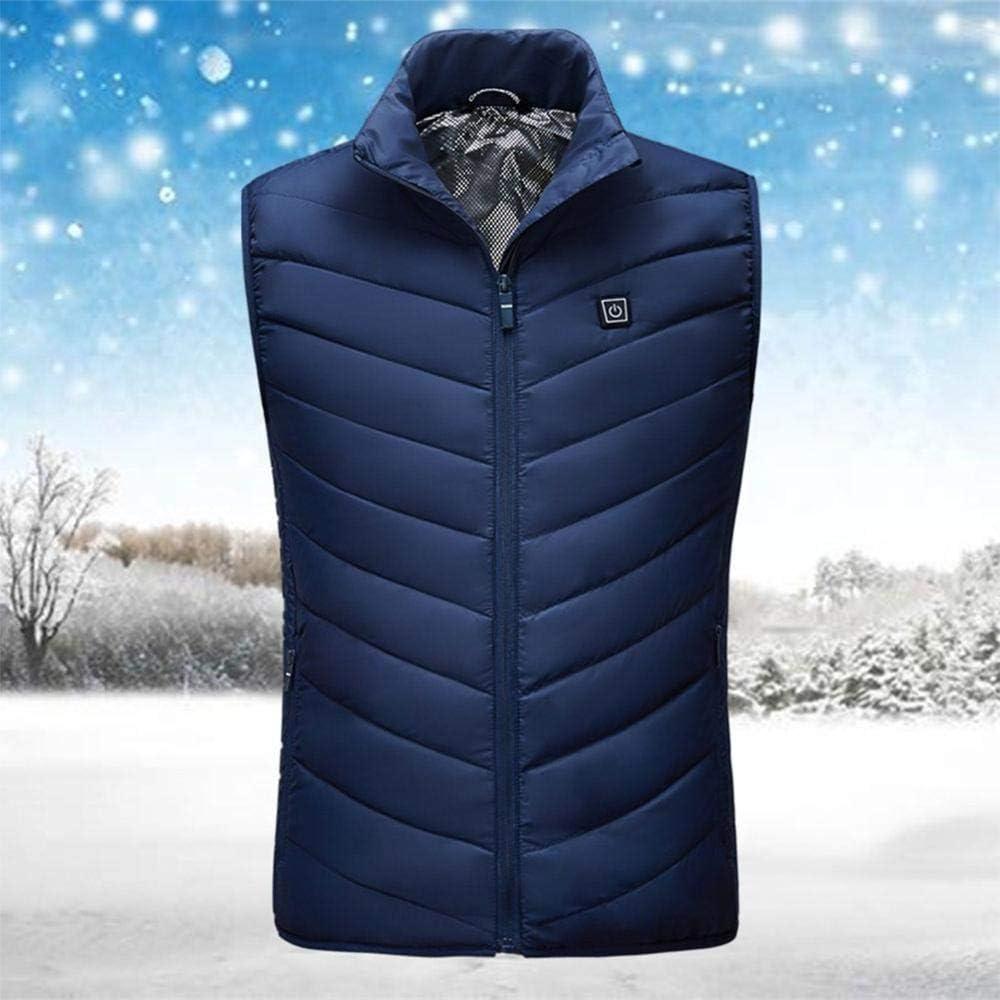 Freddo Inverno allaperto Gilet Riscaldato,Indumenti per il riscaldamento invernale giacca per gilet per riscaldamento elettrico con ricarica U abbigliamento caldo per gilet riscaldante intelligente